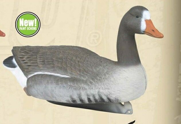 White Fronted Goose Floater Decoy W/ Water Keel