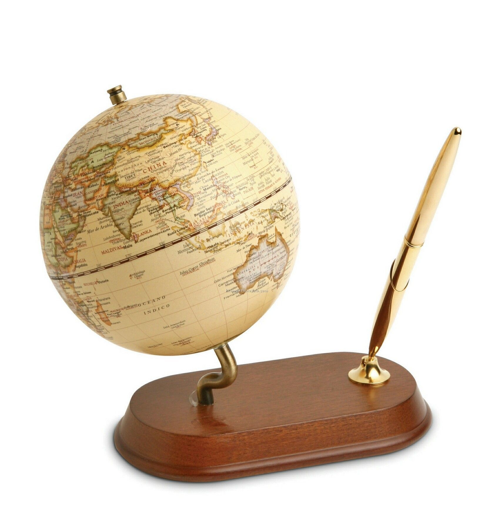 World Globe Classic With Pen Stand