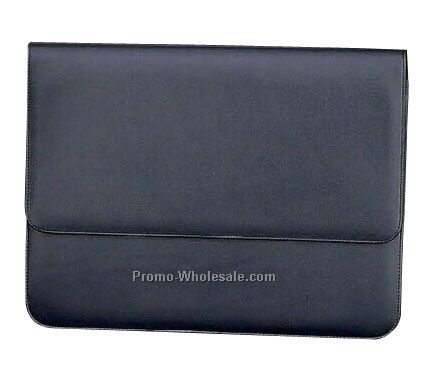"14-1/2""x10-1/2"" Black Genuine Leather Attach Case"