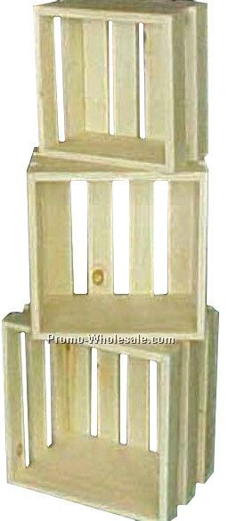 "6""x7-1/2""x5-1/2"" Store Display Crates (Wooden)"