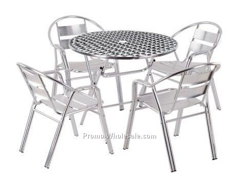 Aluminum furniture, Aluminum table and chair set