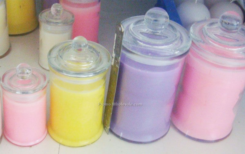 Glass Jar with Soy Wax Candle
