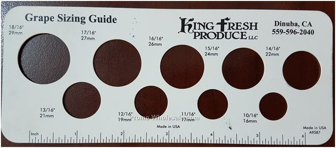 Grape Sizing Gauge