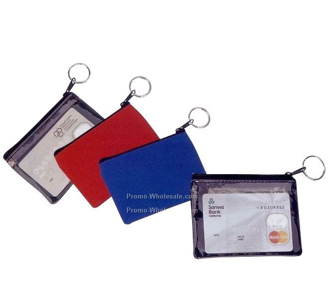 Id Holder W/ Coin Pouch/ Key Ring