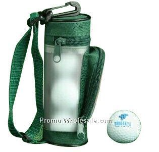 "Mini Golf Bag Tournament Gift Pack With 3 Golf Balls & 2-1/8"" Golf Tees"
