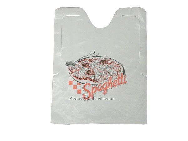 Plastic Disposable Adult Bib With customized logo