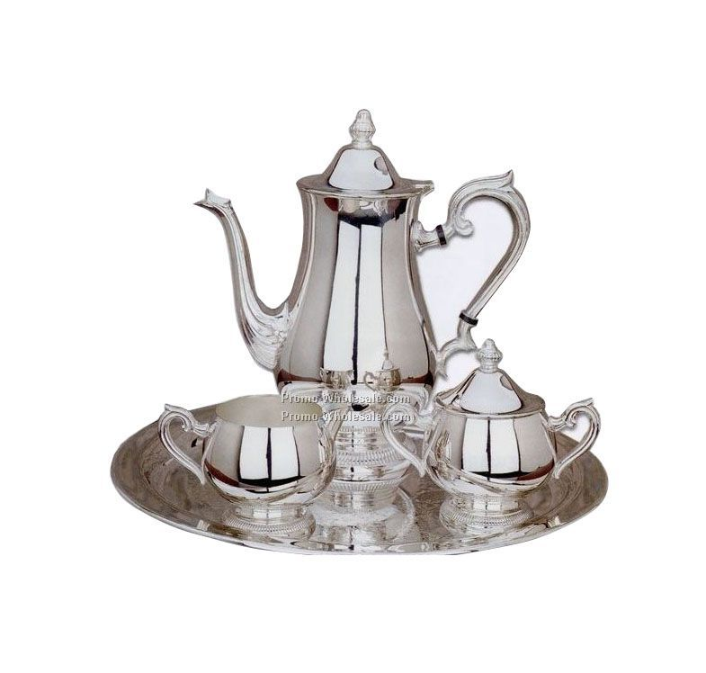 Silverplated Gadroon 4-piece Coffee Set