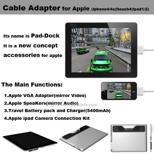 Multi-function cable adapter for Iphone, Accessories for Apple