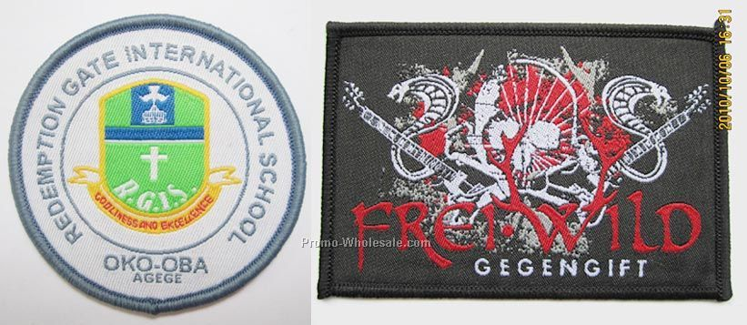 "2"" Embroidered Patches/Sublimated Four Color Process Patches"