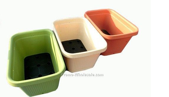 recycled plastic flower pots