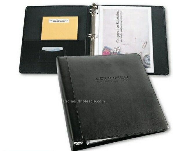 "1"" Accent Leather Ring Binder"