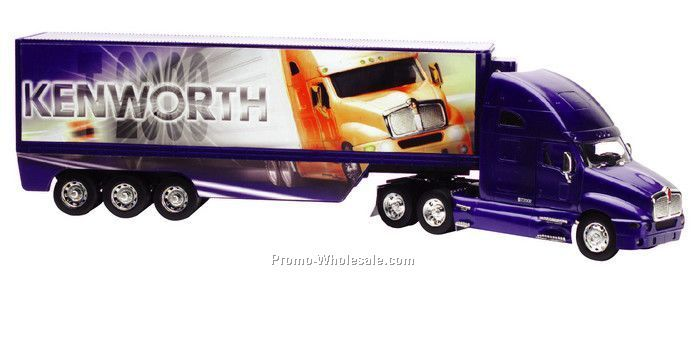 "1:32 Scale 23""x 3.75"" Die Cast Replica Kenworth Tractor And Trailer"