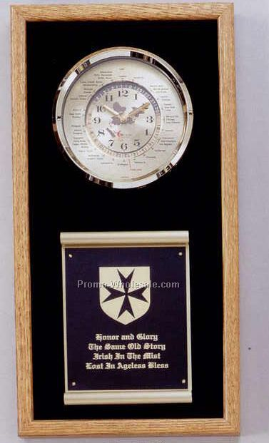"10-1/2""x20-1/2"" World Time Series Clock"