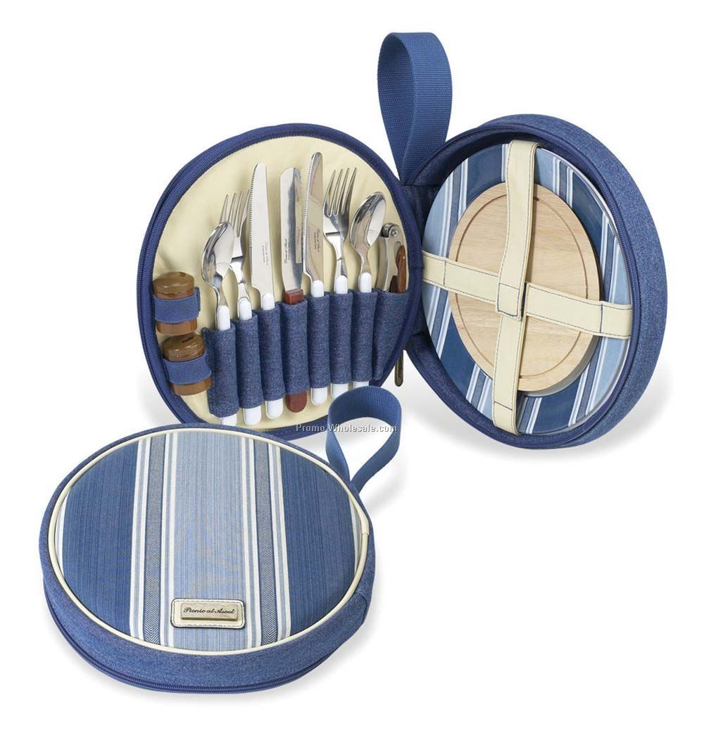 "10-1/4""x2"" Aegean Travel Picnic Set For Two"