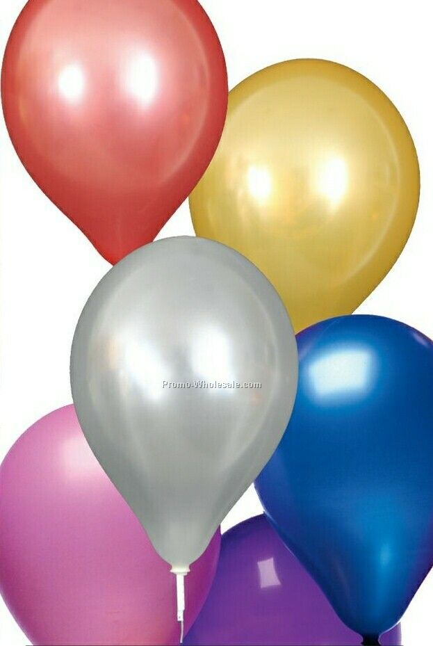 "11"" Unimprinted Pearlized Natural Latex Balloons"