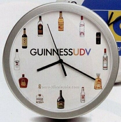 "12"" Silver Wall Clock (7-10 Days Service)"