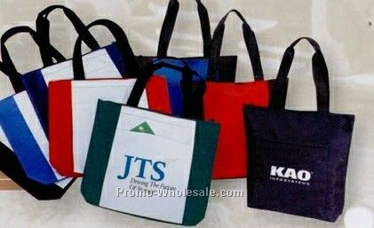"16-1/2""x14""x4"" Poly Zipper Tote Bag"
