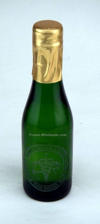 187 Ml Custom Etched Sparkling Grape Juice Woodbridge, Ca, 1 Deep Hand Etch