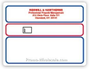 "2-15/16""x4"" Red & Blue Trim Roll Mailing Labels (Blank)"