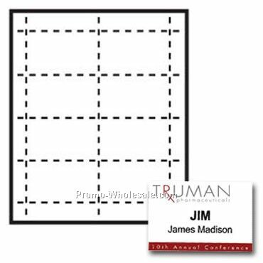 "3--1/2""x2-1/4"" Custom Nametag Inserts - 3 Color"