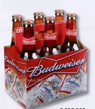 "4""x6"" Die Cut Post Cards - Budweiser Bottles"