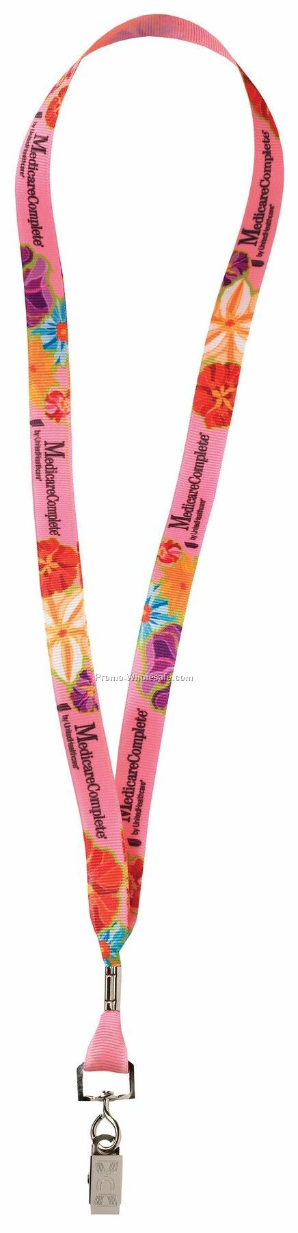 "5/8"" Full Color Poly Ribbon Lanyards With O-ring Attachment - Next Day"