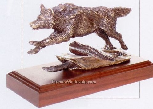 "7-1/2"" Leading The Pack Wolf Sculpture"