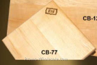 "7-1/2""x7-1/2""x3/4"" Square Wood Cutting Board - Hand Cut (Laser Engraved)"