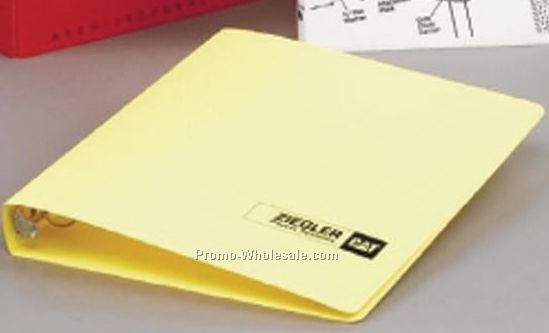 "8-1/2""x5-1/2"" 23 Gauge Poly Ring Binder 1-1/2""(1 Color/Single Side)"