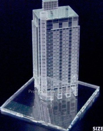 "8""x16""x10-1/2"" 3-d Replica Of Any Building W/ Base"