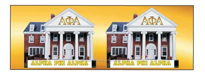 Alpha Phi Alpha Panoramic Fraternity House Badge W/ Metal Pin