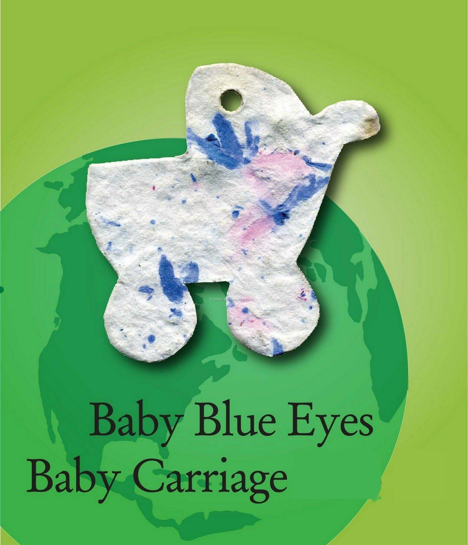 Baby Blue Eyes Baby Carriage Handmade Seed Plantable Mini