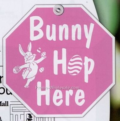 Bunny Hop Here Window Sign