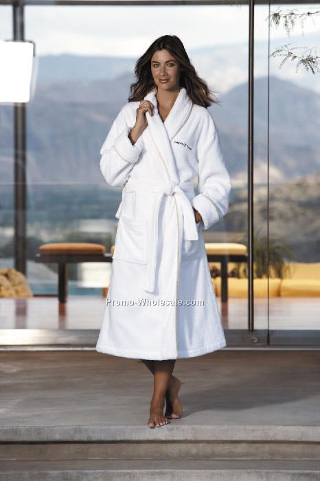 Cabana Bay Terry Shawl Collar Robe With Corded Piping (Embroidery)