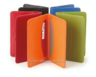 "Colorplay Leather Card Case - 4""x2-1/2"""