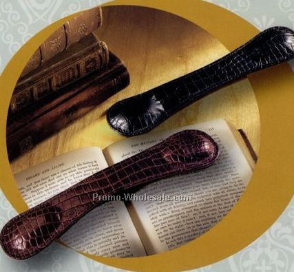 Croco Cowhide Leather Book Weight