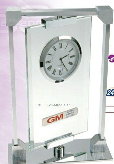Crystal Quartz Executive Swivel Clock
