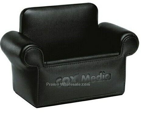 Desktop Mini Armchair Replica Cell Phone / Business Card Holder