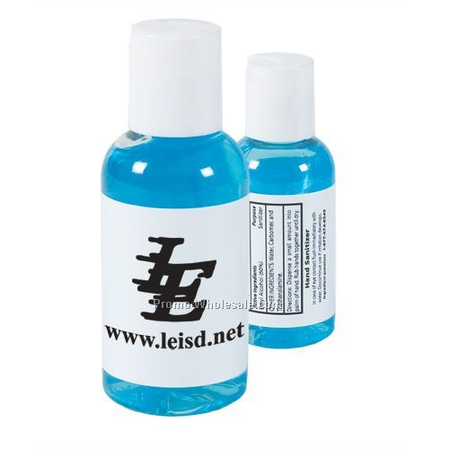 Gel Hand Sanitizer With Blue Tint - 2 Oz. Bottle