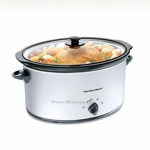 Hamilton Beach 7 Qt Oval Slow Cooker Smudge Proof