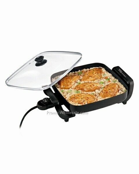 Hamilton Beach Square Skillet With Glass Lid