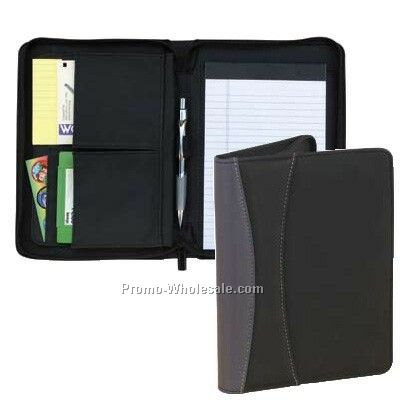 Junior Padfolio W/ Zipper Closure