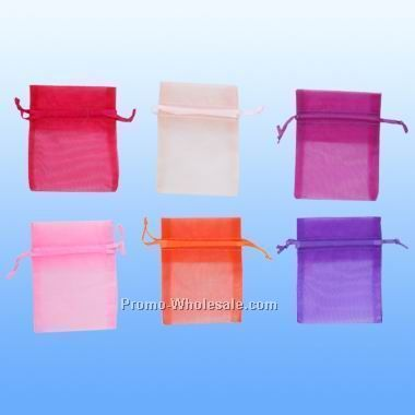 "Large Organza Pouch 5"" X 6 1/2"""
