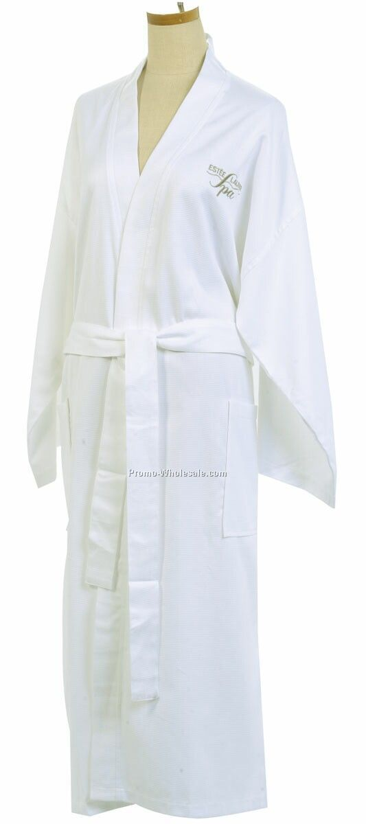 Modal Waffle Weave Robe (Embroidered)