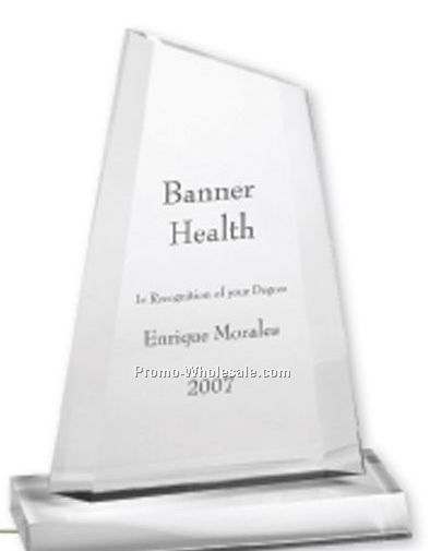Multi-faceted Acrylic Clear Slope Award (Screen Printed)