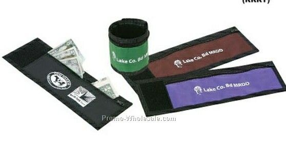 Nylon Wrist Band Pocket With Terry Cloth Backing