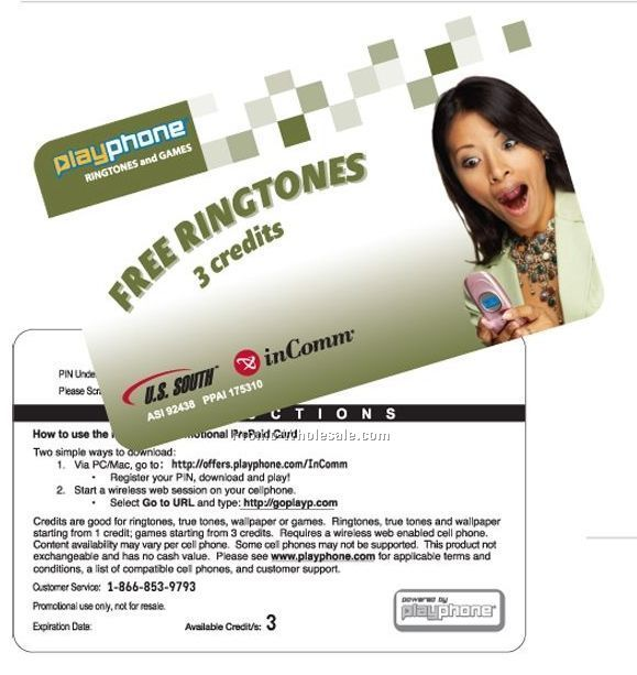 Prepaid Mobile Content Card - 6 Credits