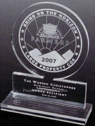 Promotional Circle Award (Laser Engraved)