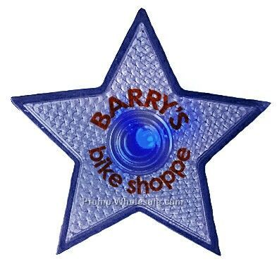 Safety Reflector Star (Blue Led)
