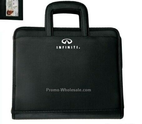 "Simulated Leather Affinity Mobile Office Ring Binder Folio - 2"" Ring"